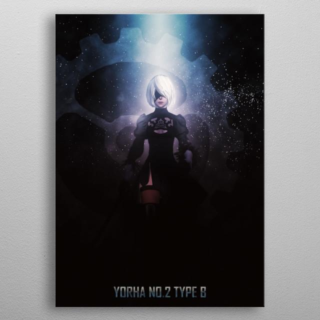 NieR: Automata metal poster