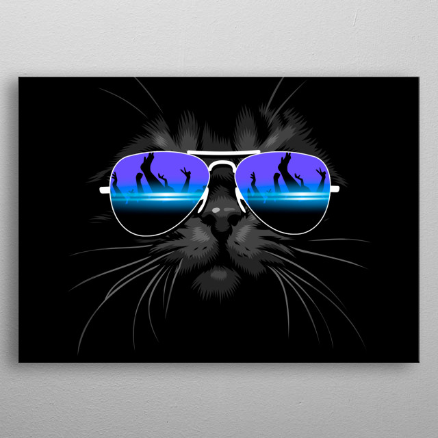 DJ Cat metal poster