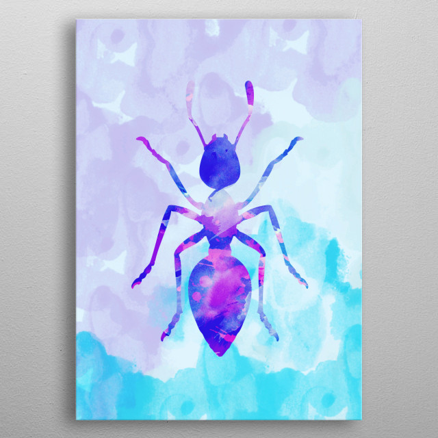 Abstract Ant  metal poster