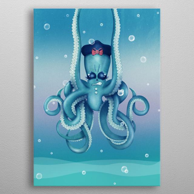Octopus Dilemma | Digital Art, 2017 metal poster