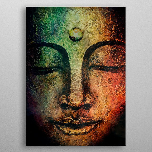 Buddha  4 metal poster