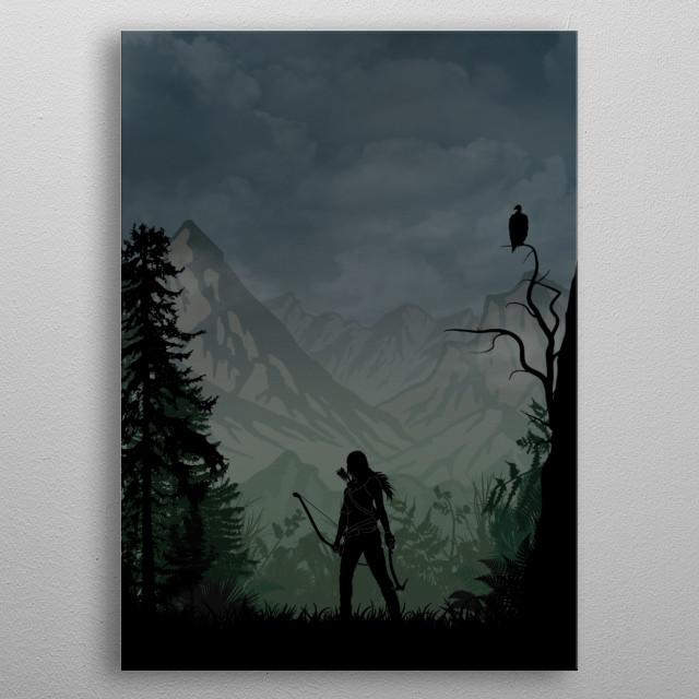 Lara Croft | Tomb Raider metal poster