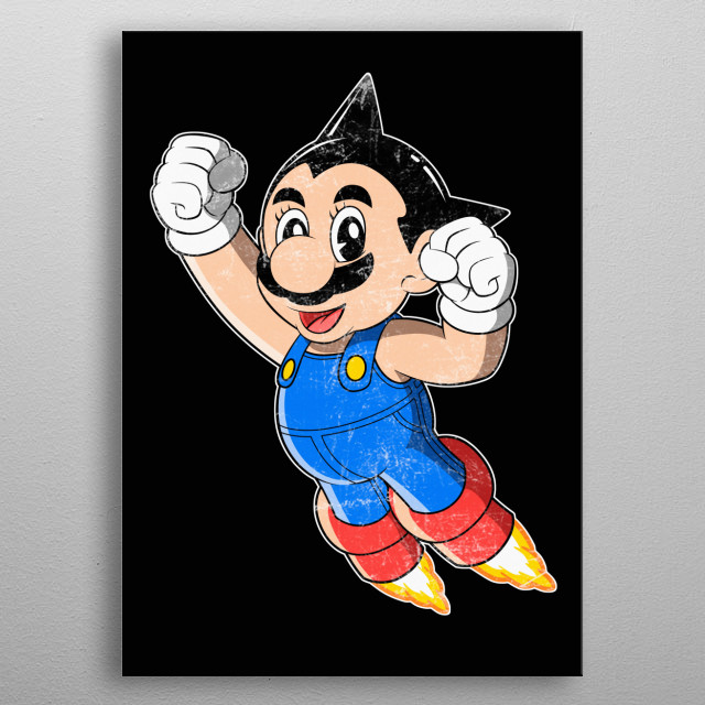 Astroplumber What if Doctor Tenma creates a plumber instead a boy? metal poster