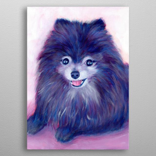 Cookie, my Purple Pomeranian metal poster