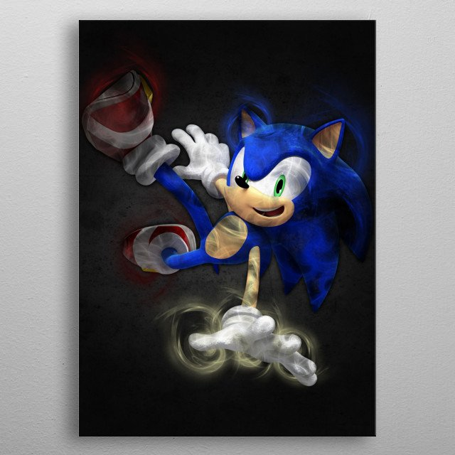 Blue hero metal poster
