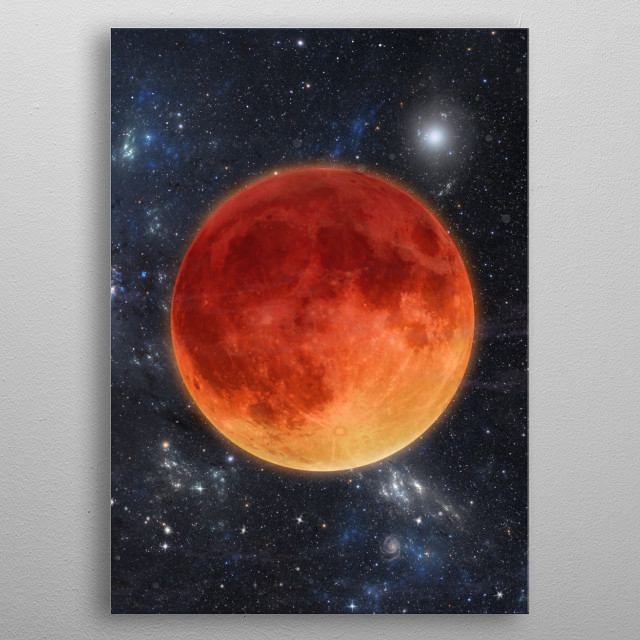 Moon Eclipse Phase V metal poster