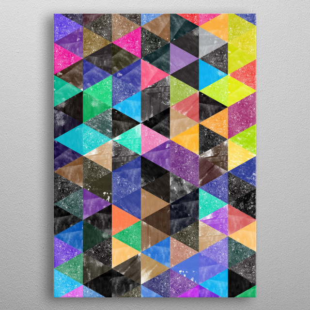 Abstract Geometric Background metal poster
