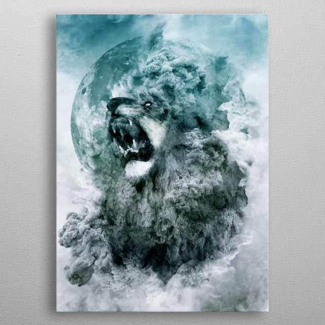 Fascinating metal poster designed by RIZA PEKER. Displate has a unique signature and hologram on the back to add authenticity to each design. metal poster