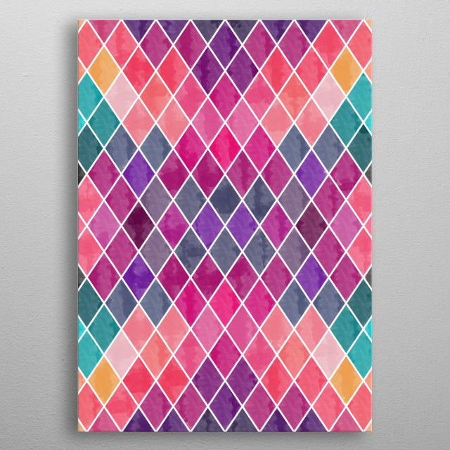 Lovely Geometric Background  metal poster