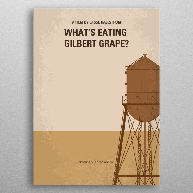No795 My Whats Eating Gilbert Grape minimal movie poster  After his father's death, Gilbert has to care for his mentally disabled brother, Ar... metal poster