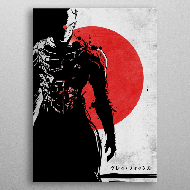 Ninja Gray Fox metal poster