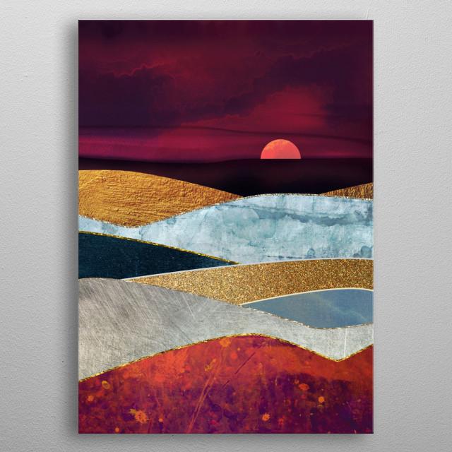 Crimson Sky metal poster