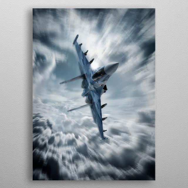 Sukhoi SU35 Flanker Fighter Jet metal poster