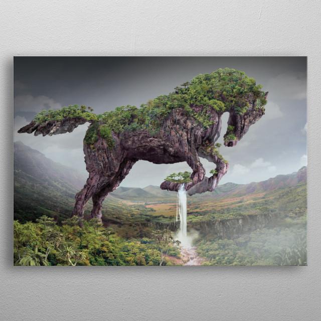horse, serie Animal metal poster