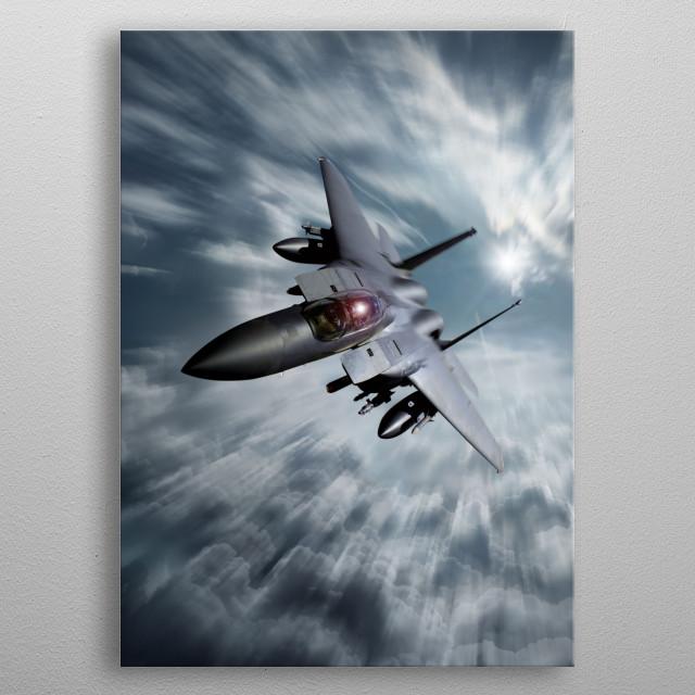 USAF F-15 Eagle metal poster