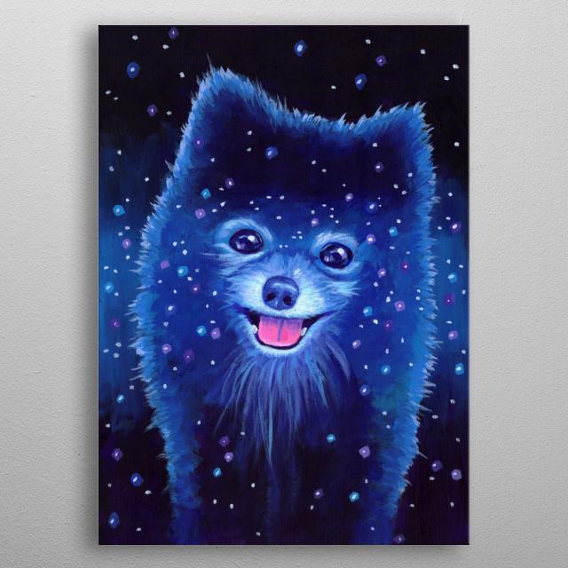 Space Pomeranian! metal poster