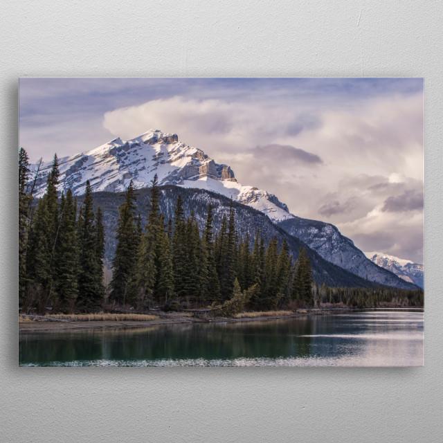 Taken in Banff National Park, by Ken Chambers, Spring 2017 metal poster