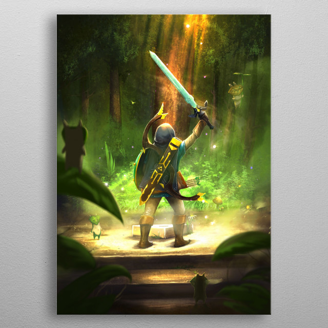 That epic moment when you grab the Master Sword :) metal poster