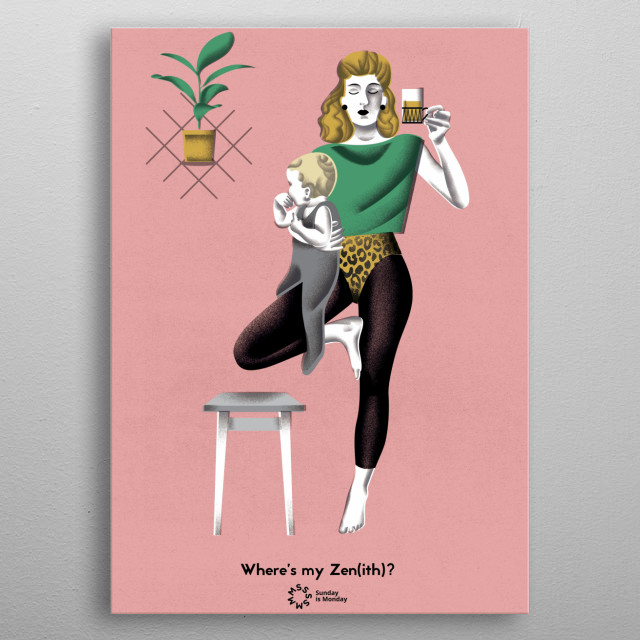 High-quality metal print from amazing Yoga collection will bring unique style to your space and will show off your personality. metal poster