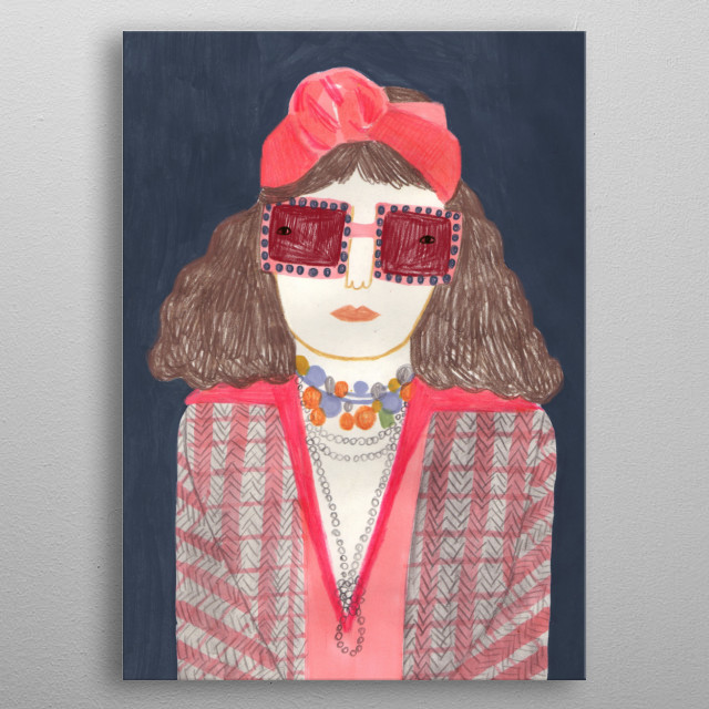 fashion illustration inspired by Gucci metal poster
