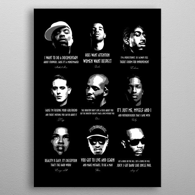 Hip Hop Legends 3/3 v1.0 metal poster
