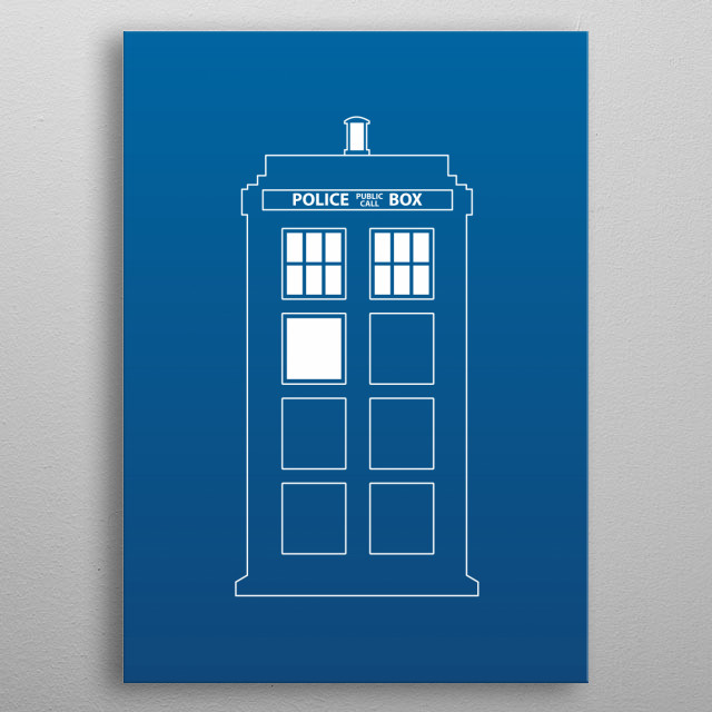 Doctor Who - Tardis metal poster