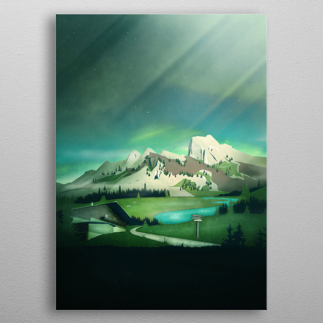 Alpine Enchantment | Digital Art metal poster