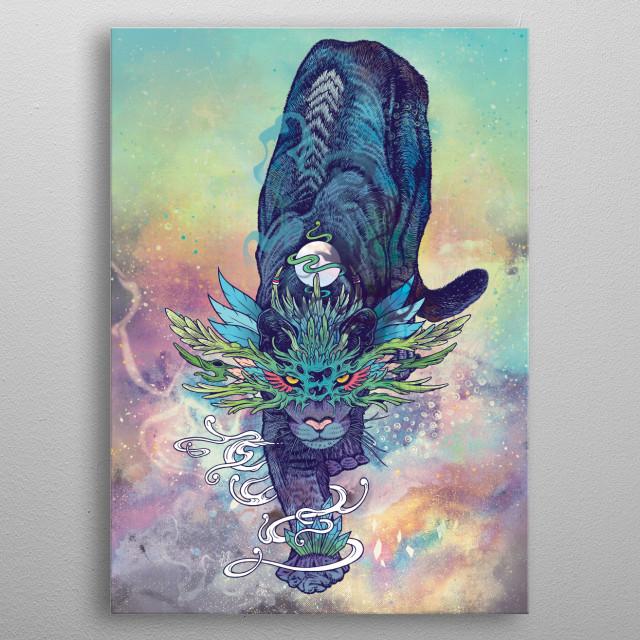Spectral Cat metal poster