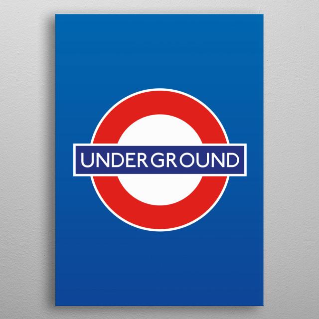 Underground - London metal poster