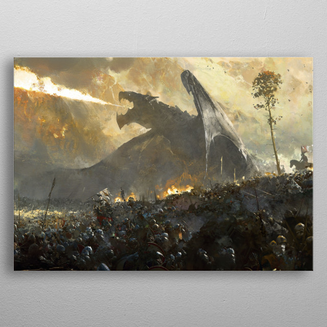 The Last One Fantasy Poster Print Metal Posters Displate