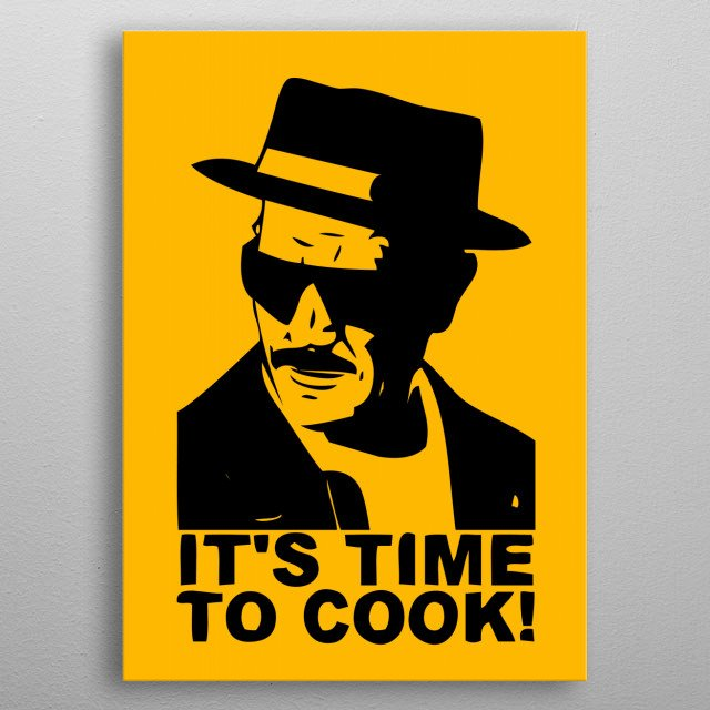 It's time to cook metal poster