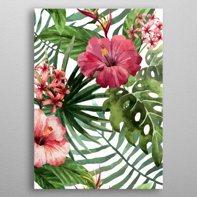 High-quality metal print from amazing Floral Patterns collection will bring unique style to your space and will show off your personality. metal poster