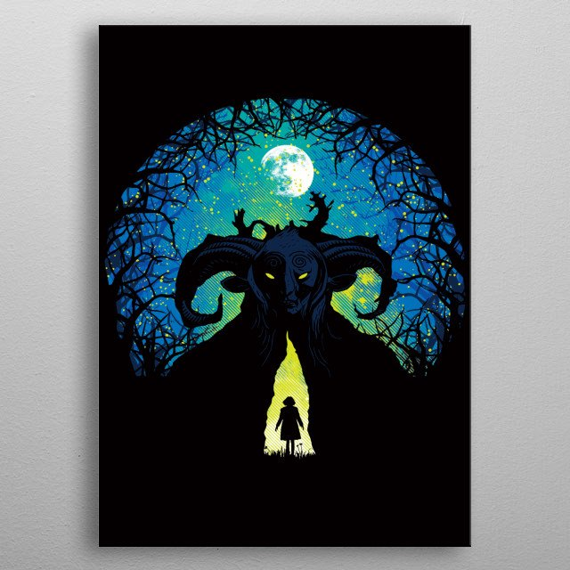 """Inspired by the movie """"Pan's Labyrinth."""" I hope you like it! :) metal poster"""