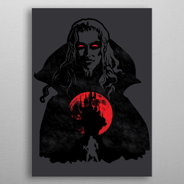 """Inspired by the game """"Castlevania."""" I hope you like it! :) metal poster"""