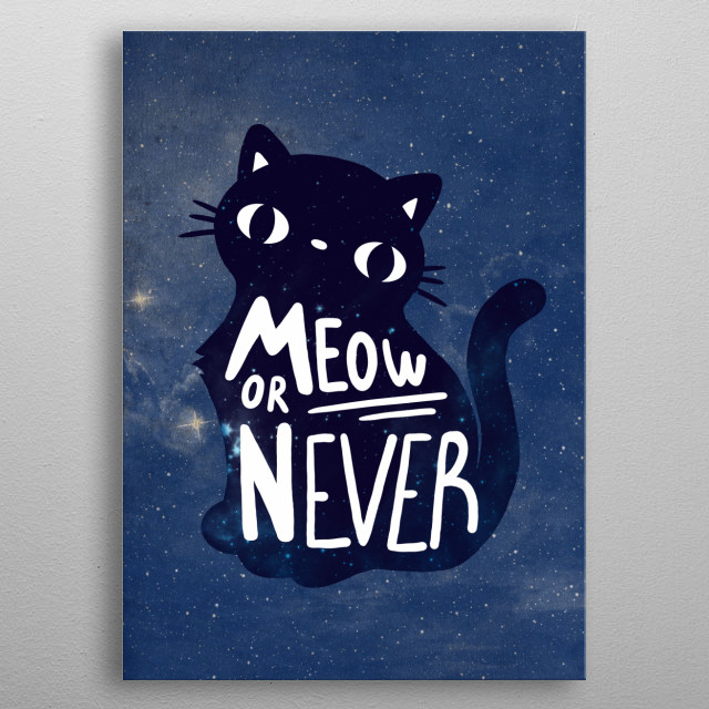 Now/Meow or never metal poster