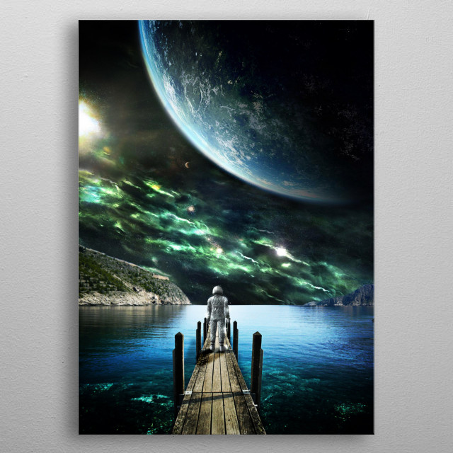 Into the Space metal poster