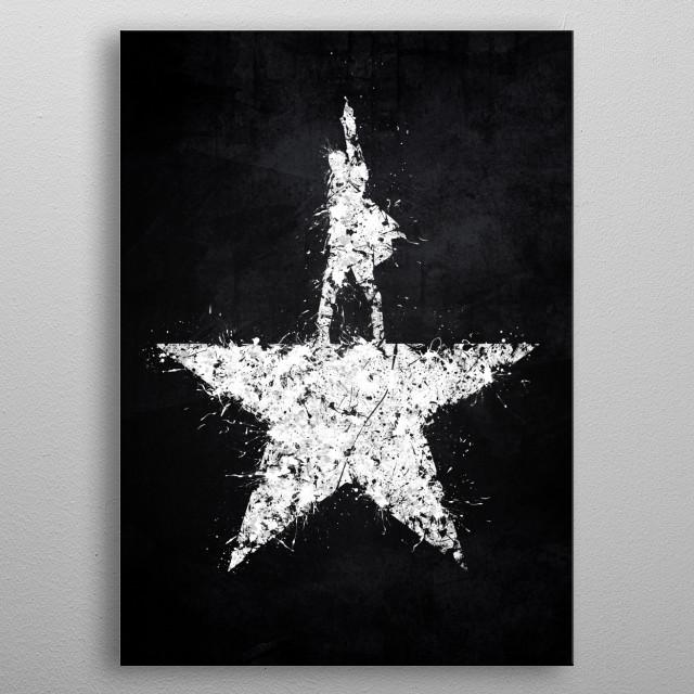 Hamilton metal poster
