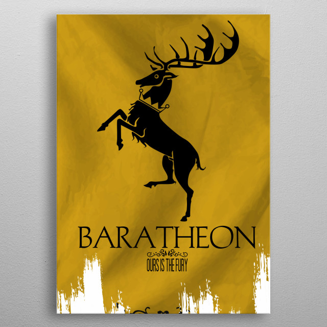 High-quality metal print from amazing Flags Houses Westeros collection will bring unique style to your space and will show off your personality. metal poster