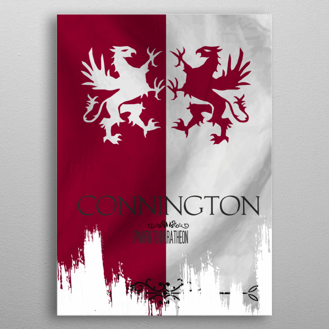 Flag House Connington metal poster