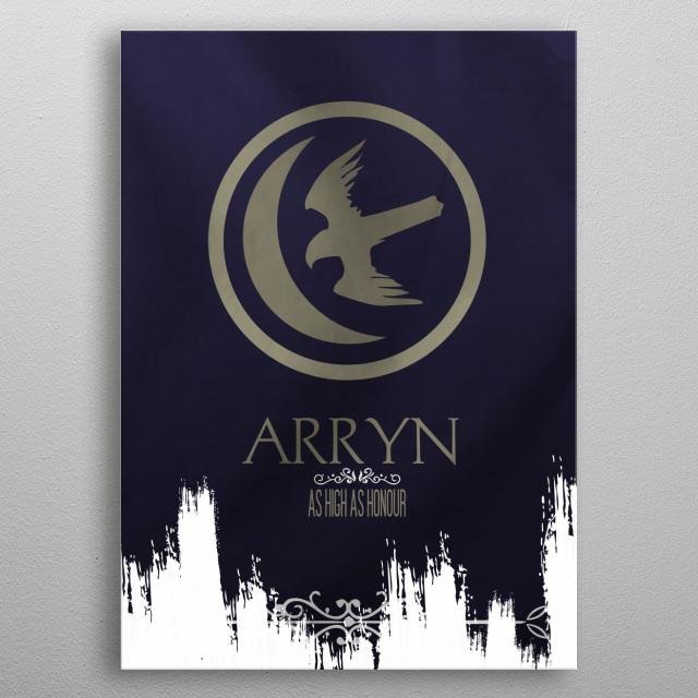 Flag House Arryn metal poster