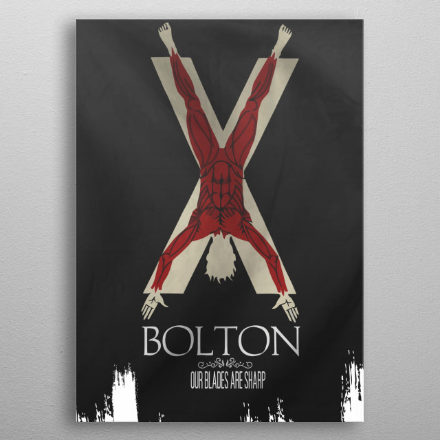Flag House Bolton metal poster