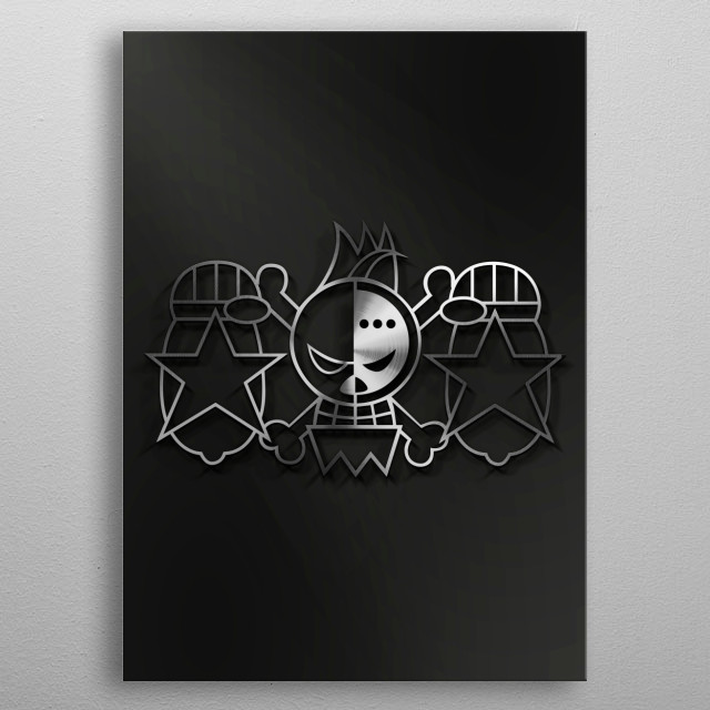 Fascinating metal poster designed by mequem art. Displate has a unique signature and hologram on the back to add authenticity to each design. metal poster