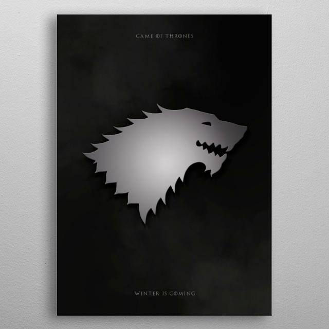 Metal Stark -  Game of thrones metal poster