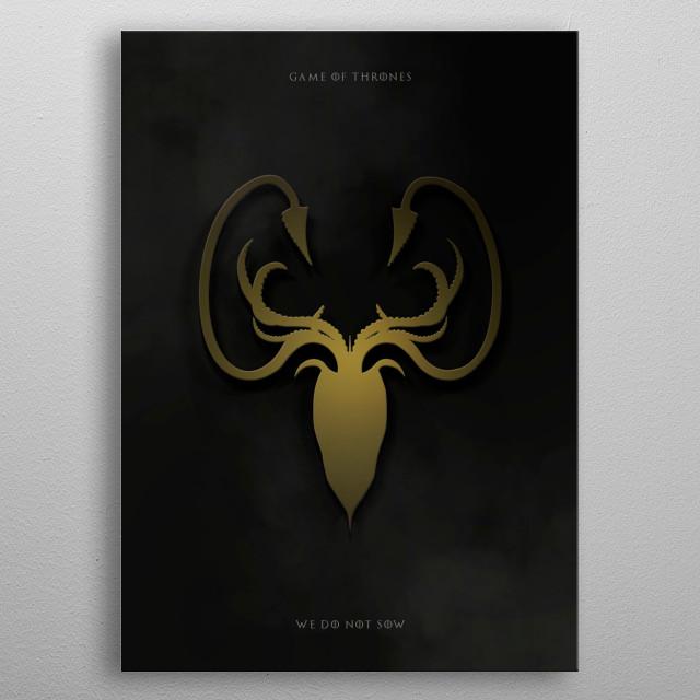 Metal Greyjoy -  Game of thrones metal poster