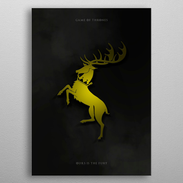 Metal Baratheon -  Game of thrones metal poster