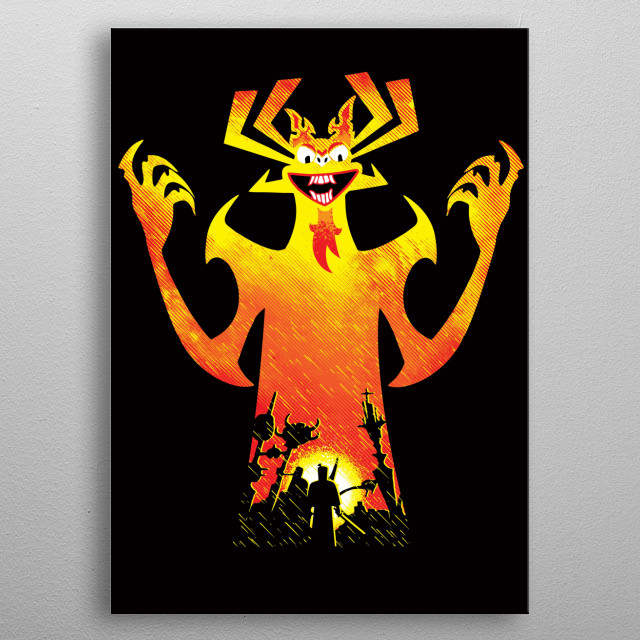 """Inspired by the cartoon TV show """"Samurai Jack."""" I hope you like it! :) metal poster"""