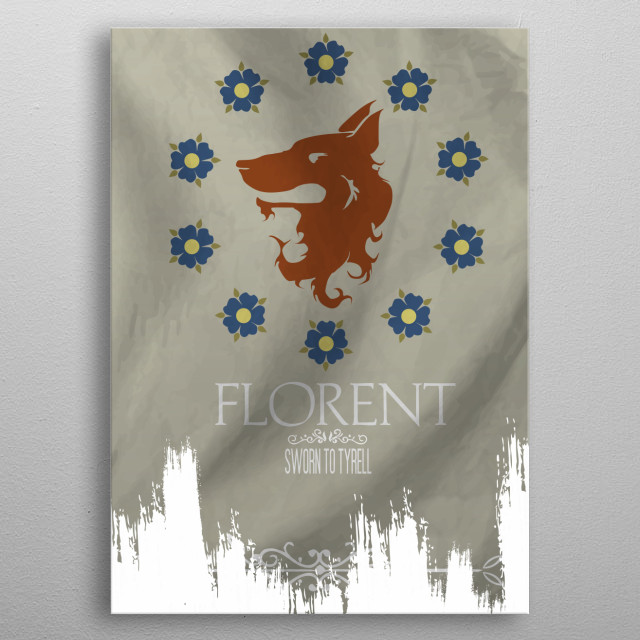 Flag House Florent metal poster