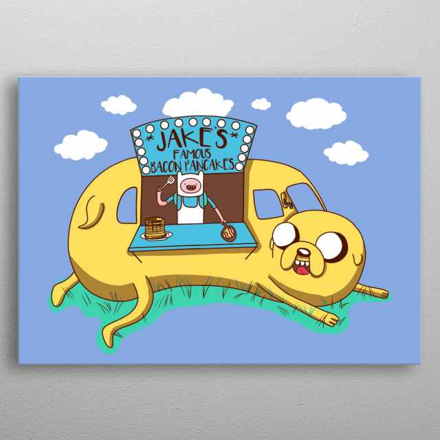 Jakes famous Bacon Pancakes metal poster