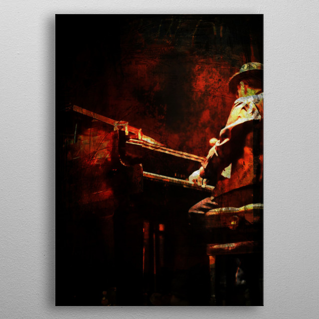 The Color of Music - Piano metal poster