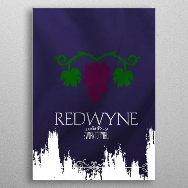 Flag House Redwyne metal poster